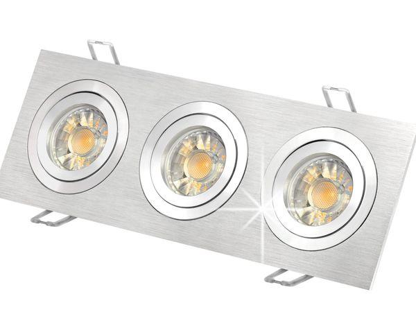 QF-2.3 Alu LED-Einbaustrahler schwenkbar, 3x 5W COB neutralweiß, GU10 230V in schöner Halogenoptik – Bild 2