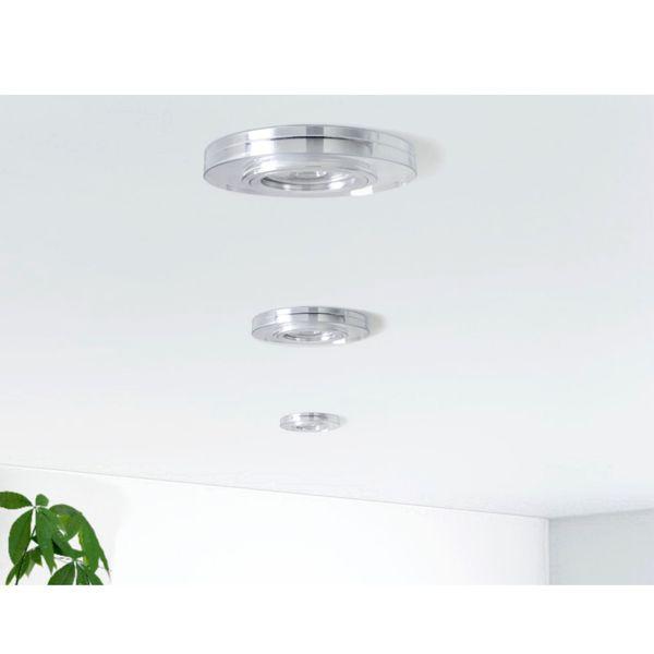 LED Einbaustrahler Glas in rund, klar & spiegelnd inkl. 3W GU10 LED warmweiß 230V – Bild 4