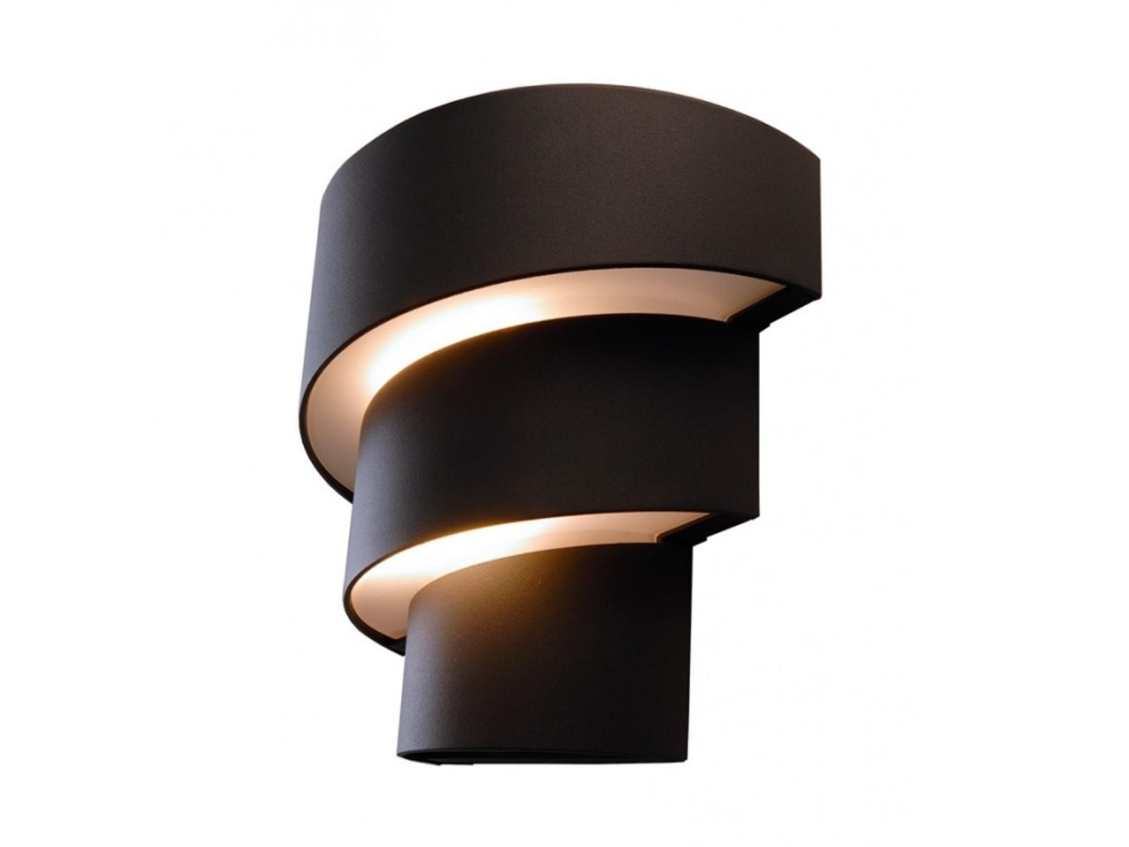 led au enleuchte wandleuchte lute in anthrazit mit 9w led. Black Bedroom Furniture Sets. Home Design Ideas