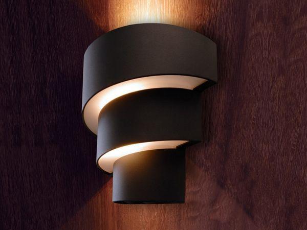 LED Außenleuchte Wandleuchte Lute in anthrazit mit 9W LED warm weiß, 230V IP54 – Bild 3