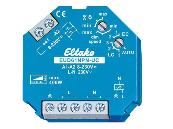 Universal-Dimmschalter/ Dimmer für dimmbare LED bis 100W für die Unterputzdose, Eltako EUD61NPN-UC