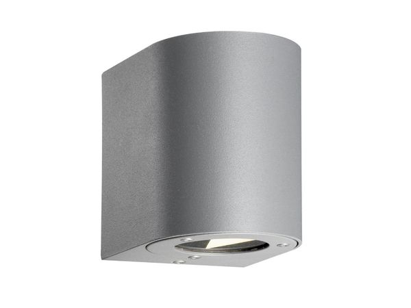 up & down LED-Wandlampe, mit Streuscheiben zur individuellen Lichtgestaltung CANTO 230V IP44 grau, 2 x 5W warm weiß – Bild 1