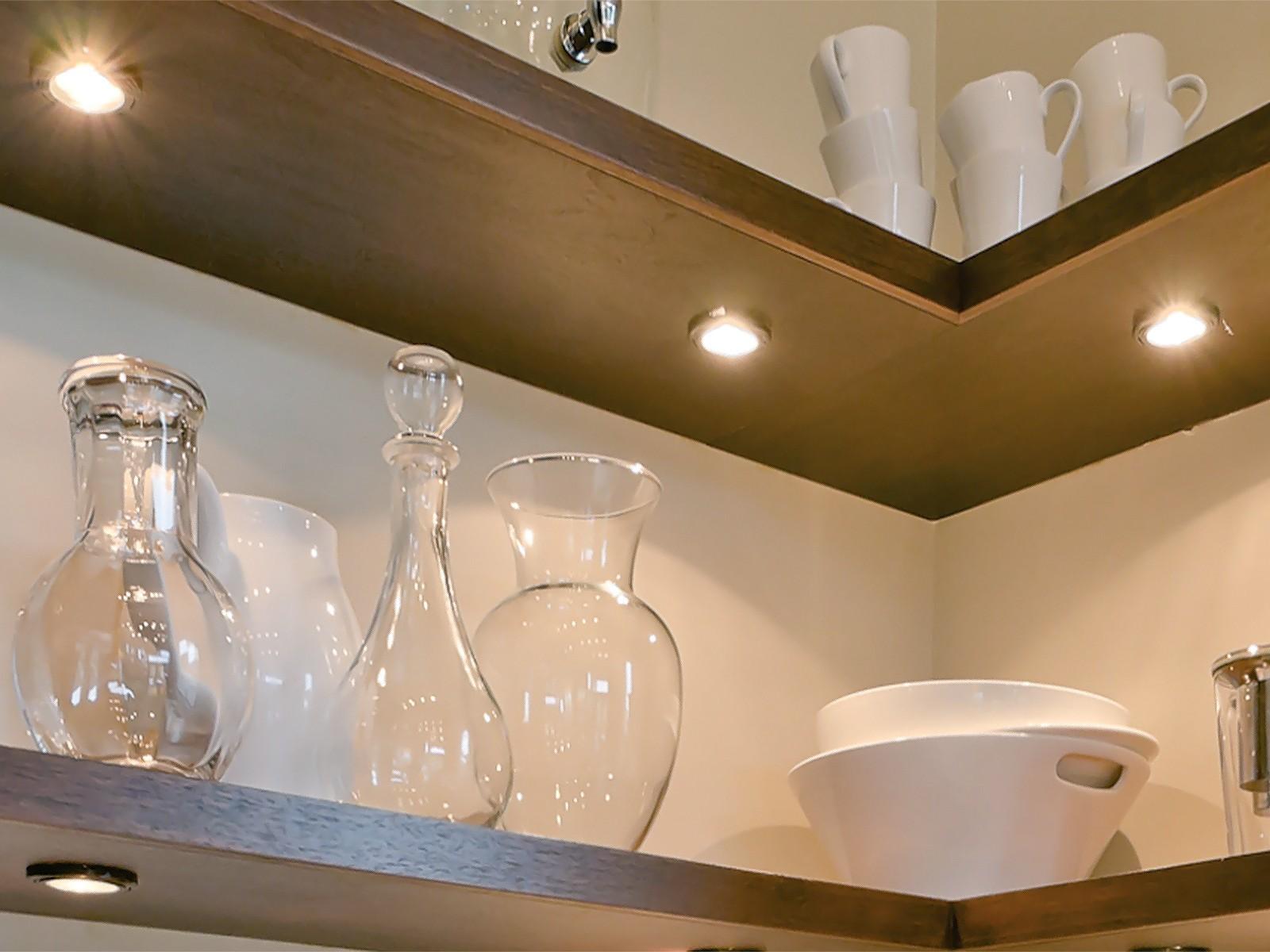 Moderne Lampen 65 : 3er set runde led schrank küchen unterbau leuchte edelstahl
