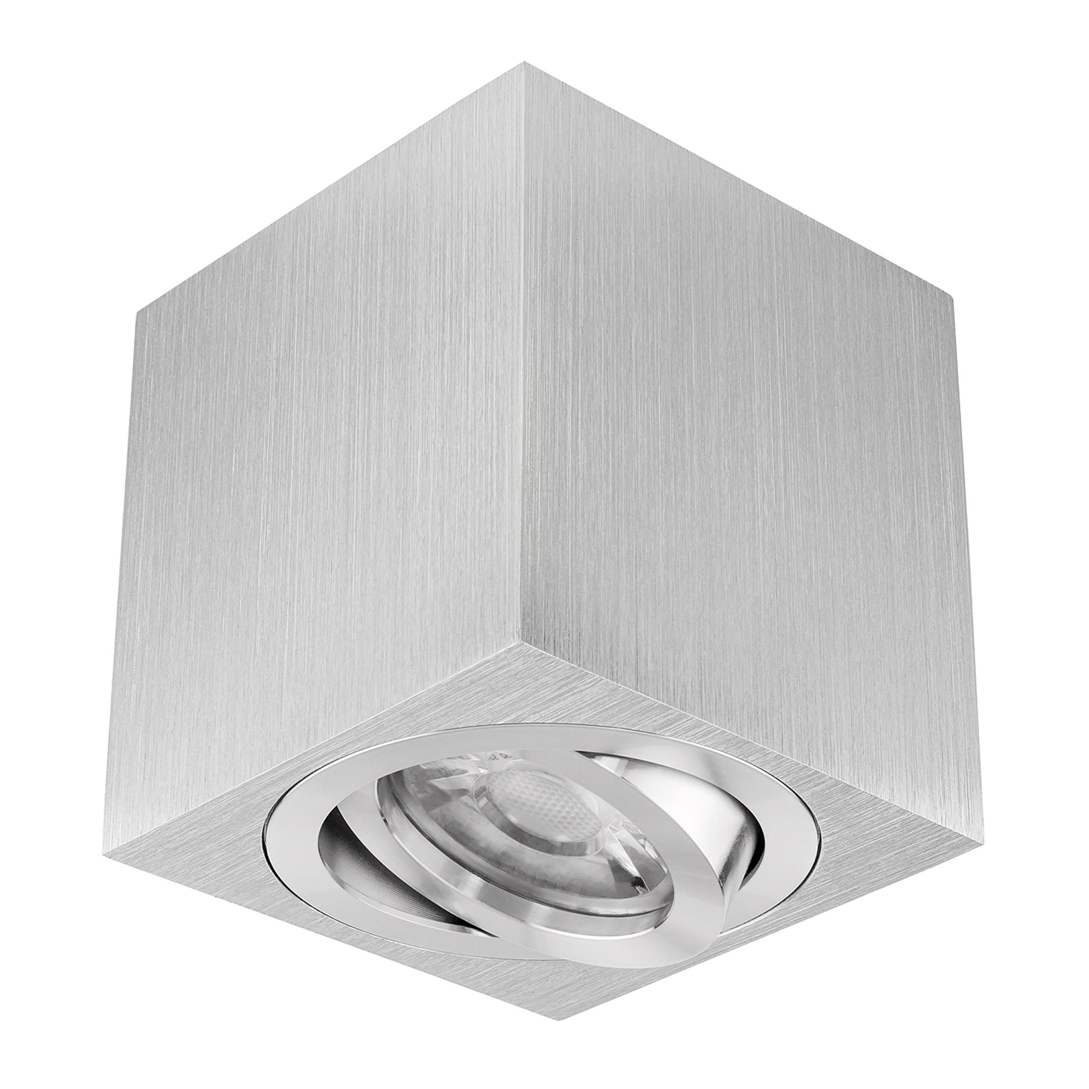 Aufbau Leuchte Strahler Deckenleuchte Eckig Aufbauspot LED GU10 5W Leuchtmittel