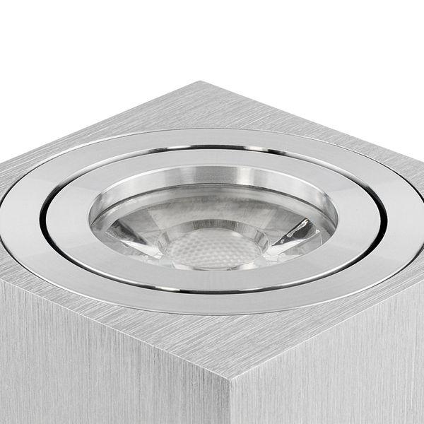 Decken Aufbauspot DUCE aus Alu, schwenkbar inkl. LED Leuchtmittel 5W SMD warm weiss 230V – Bild 4