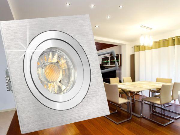 QF-2 LED-Einbaustrahler schwenkbar Alu, 5W LED warmweiß DIMMBAR, GU10 230V in toller Halogenoptik – Bild 4