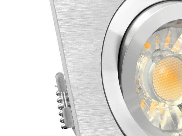 QF-2 LED-Einbaustrahler schwenkbar Alu, 5W LED warmweiß DIMMBAR, GU10 230V in toller Halogenoptik – Bild 5