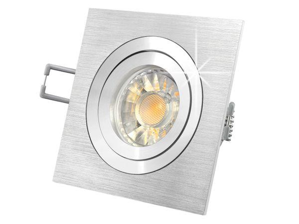 QF-2 LED-Einbaustrahler schwenkbar Alu, 5W LED warmweiß DIMMBAR, GU10 230V in toller Halogenoptik – Bild 2