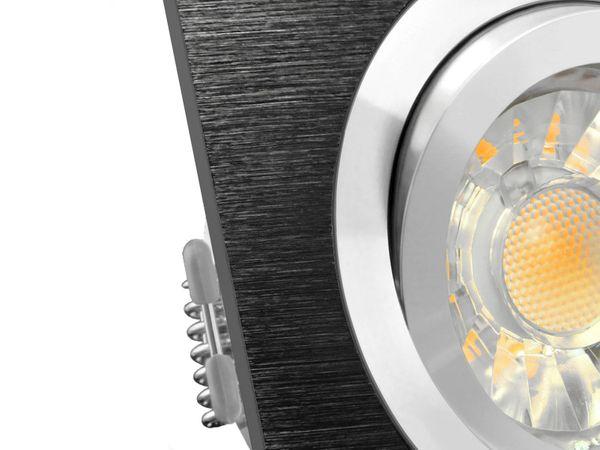 QF-2 LED-Einbauspot Alu schwarz schwenkbar, 5W LED warm weiß DIMMBAR, GU10 230V in schöner Halogenoptik – Bild 5