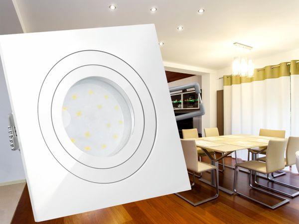 QF-2 LED-Einbauleuchte weiß, flach und schwenkbar inkl. LED-Modul 230V, 5W, warm weiß 2700K – Bild 4