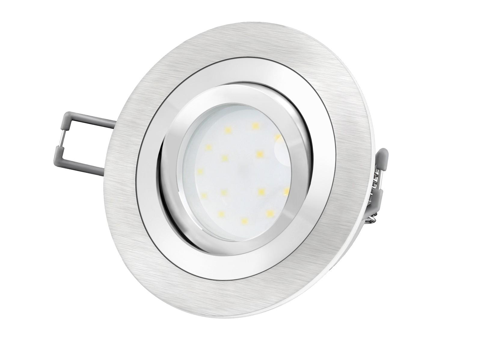 RF 20 Aluminium LED Einbauleuchte flach rund inkl. LED Modul 2030V, 20W SMD,  warm weiß 20700K