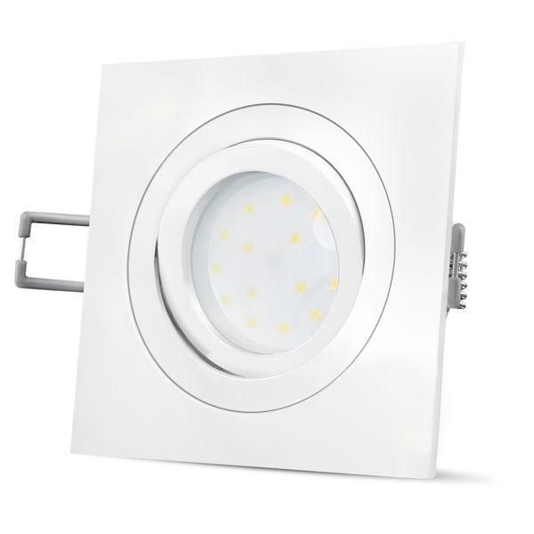 QF-2 LED Einbauleuchte flach schwenkbar in weiß inkl. LED Modul 5W neutralweiß 230V