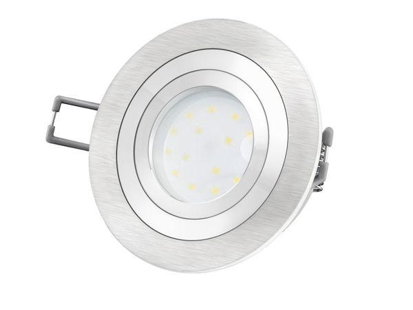 RF-2 Aluminium LED-Einbauleuchte flach rund inkl. LED-Modul 230V, 5W, neutral weiß 4000K – Bild 2