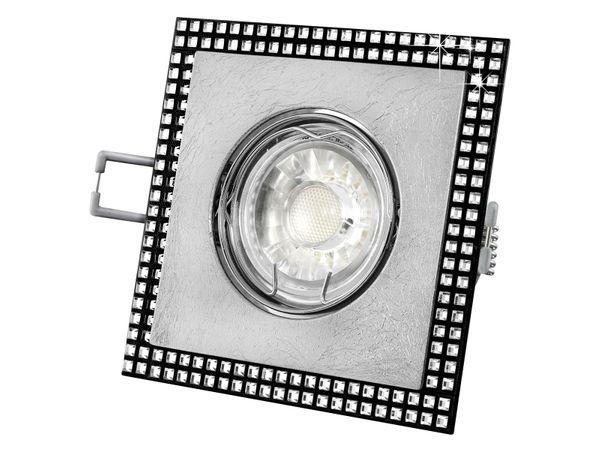 Einbaustrahler quadratisch, schwenkbar, mit Blattsilber und SWAROVSKI Elementen, 5W LED warm weiß – Bild 2