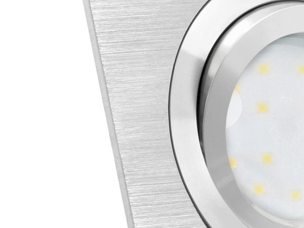 QF-2.3 flacher Alu LED-Einbaustrahler schwenkbar, 3 x 5W LED-Modul warmweiß, 230V 2700K – Bild 5