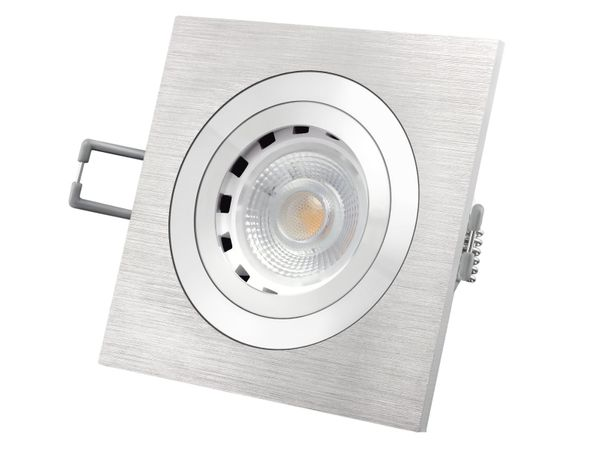 QF-2 Alu LED-Einbaustrahler dimmbar schwenkbar, LEDON 7W SUNSET DIM, 3000-2000K (Ultra warm weiß) – Bild 2