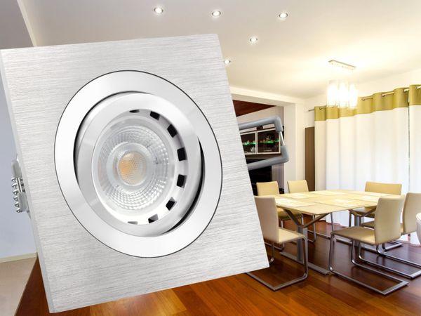 QF-2 Alu LED-Einbaustrahler dimmbar schwenkbar, LEDON 7W SUNSET DIM, 3000-2000K (Ultra warm weiß) – Bild 3