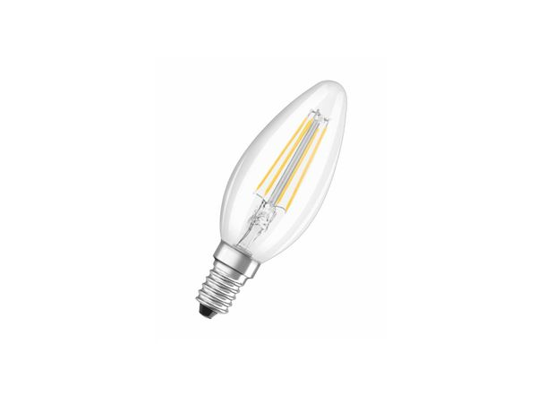 OSRAM LED-Leuchtmittel PARATHOM 3,8W, Filament Clear, 2700K warmweiß, 230V, E14, klassische Kerzenform
