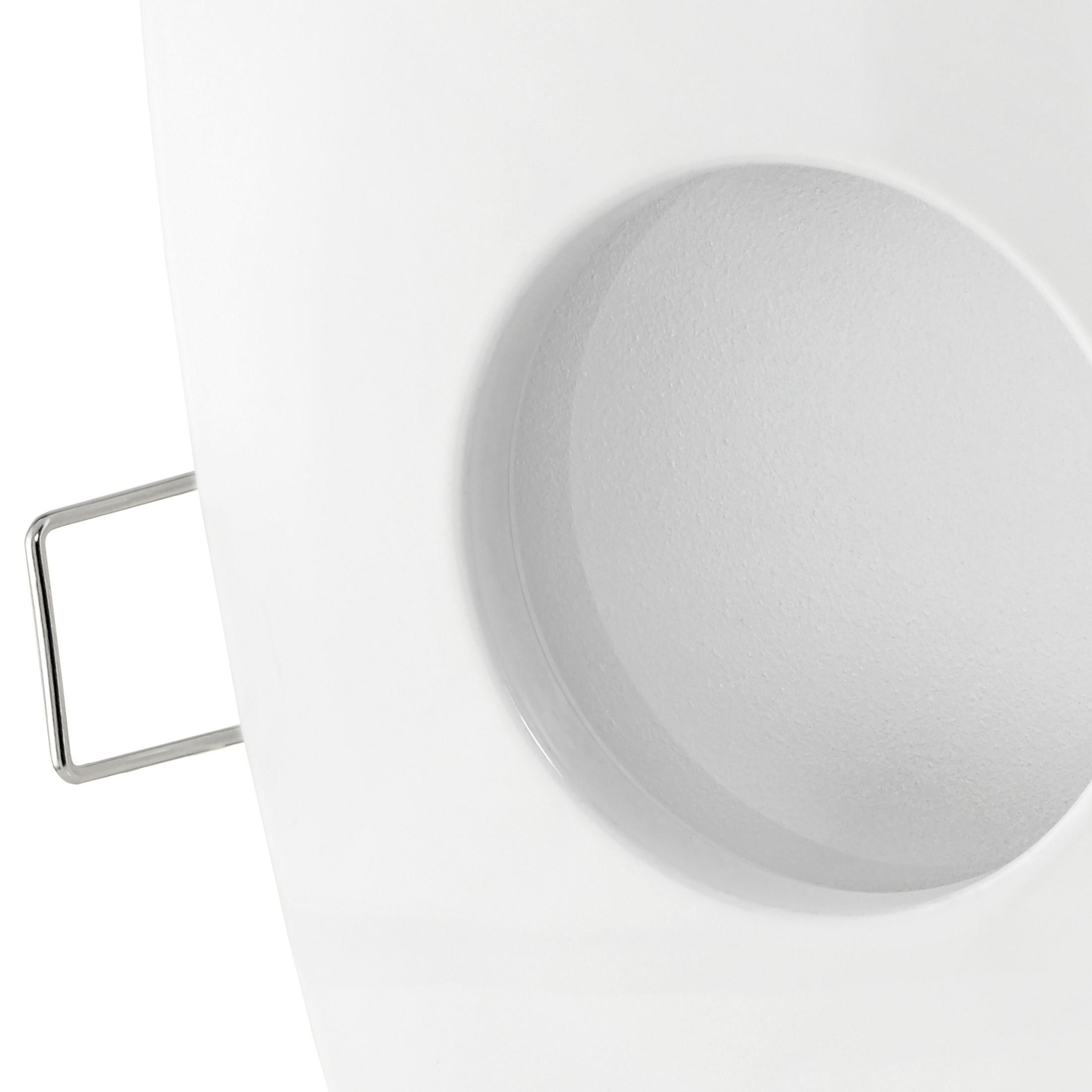 qw 1 led einbaustrahler weiss bad dusche aussenbereich feuchtraum ip65 5w smd led neutral. Black Bedroom Furniture Sets. Home Design Ideas
