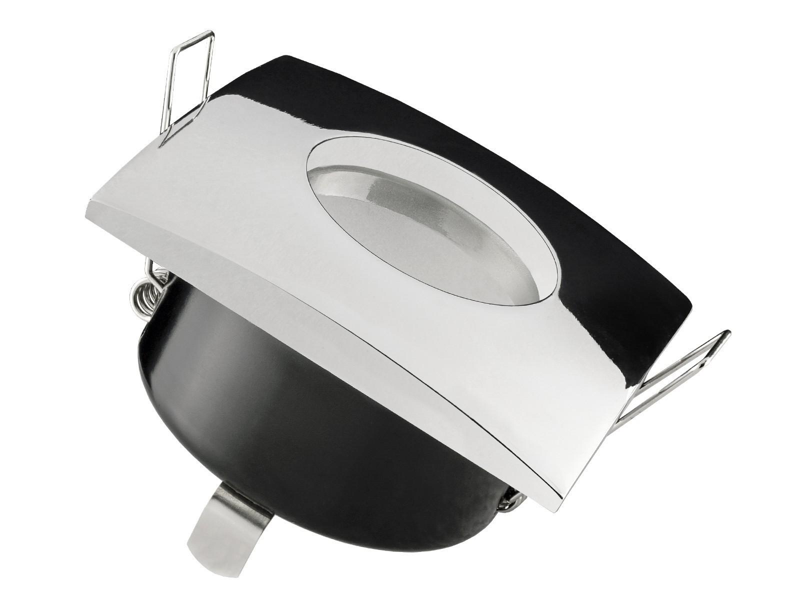 qw 1 feuchtraum led einbaustrahler bad einbauleuchte chrom ip65 5w smd led warm wei gu10. Black Bedroom Furniture Sets. Home Design Ideas