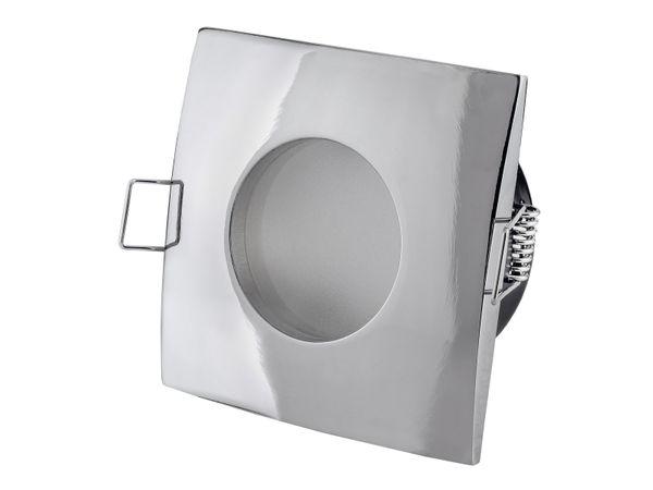 QW-1 flacher LED-Einbaustrahler chrom glänzend, IP65 inkl. LED-Modul 230V, 5W, neutral weiß 4000K – Bild 2