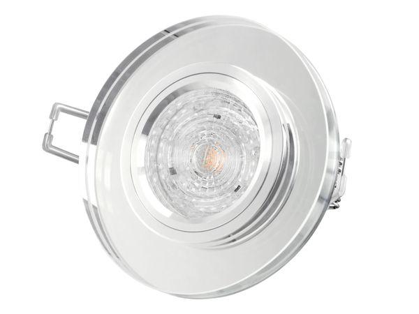 Dimmbarer LED-Einbaustrahler Echtglas rund, klar spiegelnd, 4,9W warmweiß, GU10 230V MASTER LEDspot MV von PHILIPS