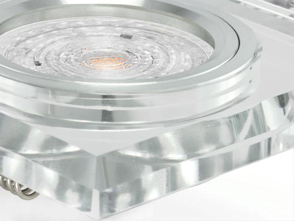 Design LED-Einbauspot aus Glas quadratisch klar spiegelnd, 4,9W neutralweiß, DIMMBAR, GU10 230V PHILIPS MASTER LEDspot MV – Bild 4