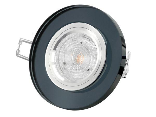 Glas LED-Einbauleuchte rund, schwarz spiegelnd, 4,9W  neutralweiß, DIMMBAR, GU10 230V MASTER LEDspot MV von PHILIPS