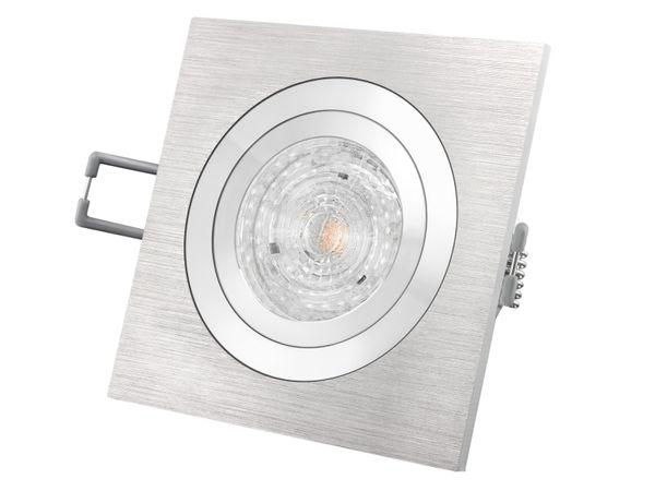 QF-2 Alu LED-Einbaustrahler schwenkbar, 4,9W LED warm weiß DIMMBAR, GU10 230V MASTER LEDspot MV von PHILIPS – Bild 2