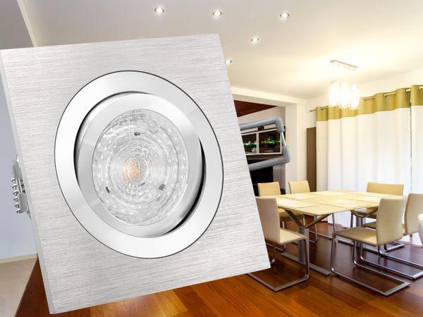 QF-2 Alu LED-Einbaustrahler schwenkbar, 4,9W LED warm weiß DIMMBAR, GU10 230V MASTER LEDspot MV von PHILIPS – Bild 3