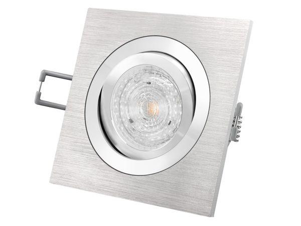 QF-2 Alu LED-Einbaustrahler schwenkbar, 4,9W LED warm weiß DIMMBAR, GU10 230V MASTER LEDspot MV von PHILIPS