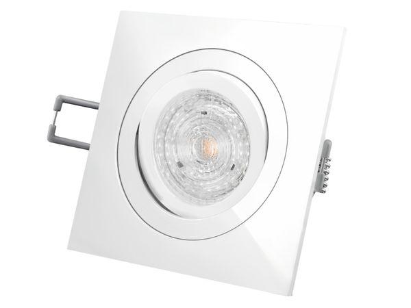 QF-2 LED-Einbaustrahler Einbauleuchte weiß schwenkbar, 4,9W DIMMBAR warmweiß, 230V GU10, MASTER LEDspot MV von PHILIPS