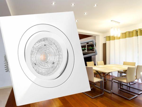 QF-2 LED-Einbaustrahler Einbauleuchte weiß schwenkbar, 4,9W DIMMBAR neutral weiß, 230V GU10, PHILIPS MASTER LEDspot MV – Bild 3