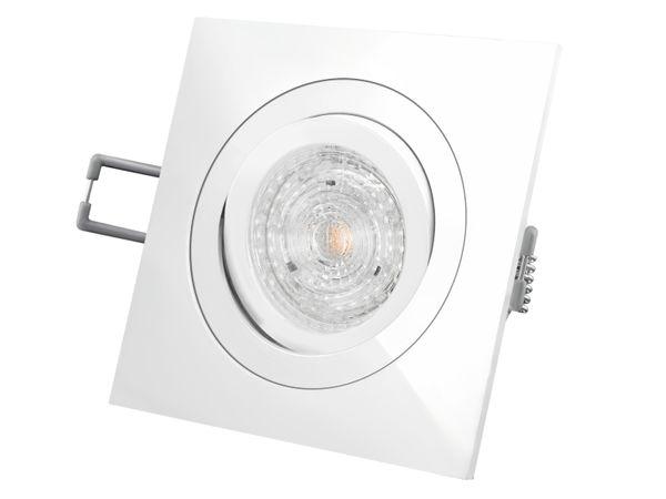 QF-2 LED-Einbaustrahler Einbauleuchte weiß schwenkbar, 4,9W DIMMBAR neutral weiß, 230V GU10, PHILIPS MASTER LEDspot MV