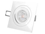 QF-2 LED-Einbaustrahler Einbauleuchte weiß schwenkbar, 4,9W DIMMBAR neutral weiß, 230V GU10, PHILIPS MASTER LEDspot MV 001