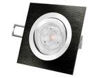 QF-2 LED-Einbauleuchte Spot Alu schwarz schwenkbar, 4,9W neutralweiß DIMMBAR, GU10 230V MASTER LEDspot MV von PHILIPS 001