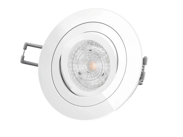 RF-2 LED-Einbaustrahler Einbauspot schwenkbar weiß rund, 4,9W warmweiß DIMMBAR, GU10 230V MASTER LEDspot MV von PHILIPS