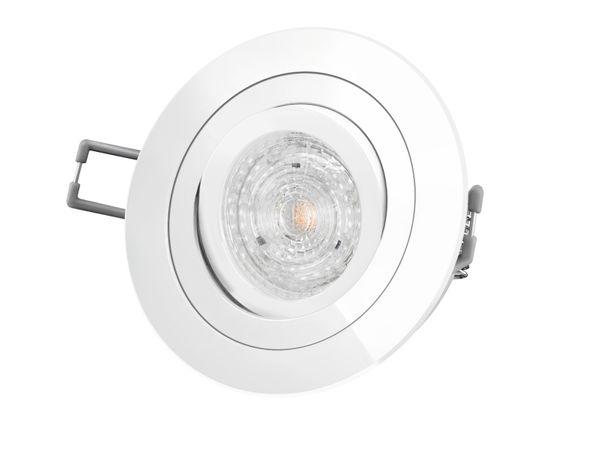 RF-2 LED-Einbaustrahler Einbauspot schwenkbar weiß rund, 4,9W neutral weiß DIMMBAR, GU10 230V PHILIPS MASTER LEDspot MV