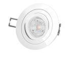 RF-2 LED-Einbaustrahler Einbauspot schwenkbar weiß rund, 4,9W neutral weiß DIMMBAR, GU10 230V PHILIPS MASTER LEDspot MV 001