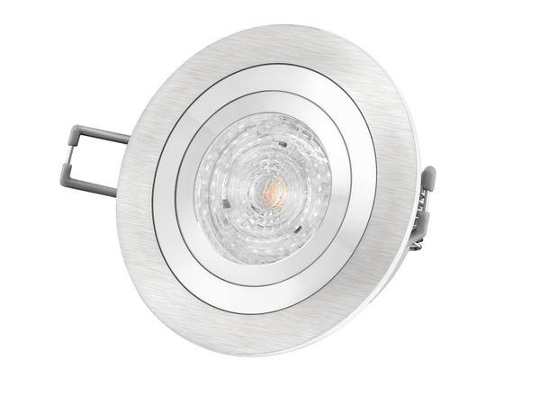 RF-2 Aluminium LED-Einbauleuchte Strahler rund, 4,9W neutral weiß DIMMBAR, GU10 230V MASTER LEDspot MV von PHILIPS – Bild 2