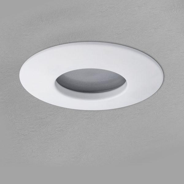 RW-1 LED-Einbaustrahler weiß-matt, Bad Dusche Aussenbereich, IP65, 4,9W warmweiß DIMMBAR, GU10 MASTER LEDspot MV von PHILIPS – Bild 5