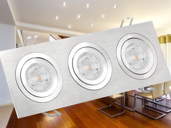 QF-2.3 Alu LED-Einbaustrahler schwenkbar, 3 * 4,9W SMD warmweiß DIMMBAR, GU10 230V MASTER LEDspot MV von PHILIPS – Bild 4