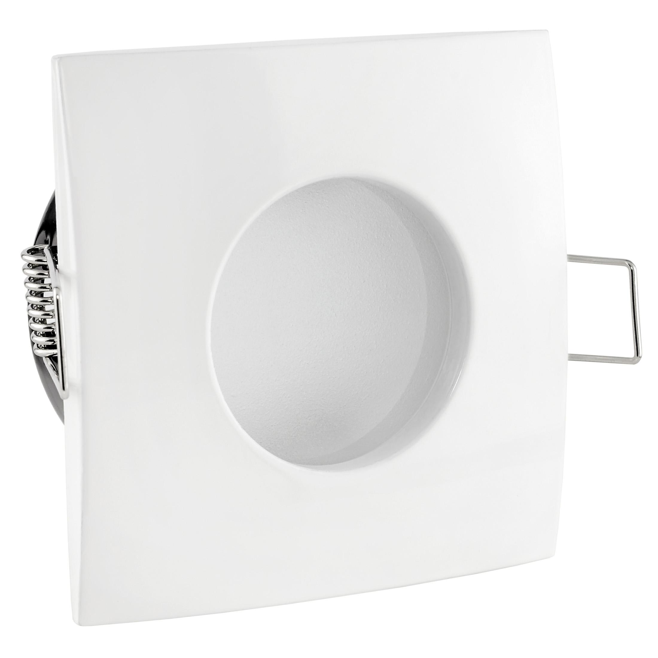 qw 1 led einbaustrahler weiss bad dusche feuchtraum ip65 4 9w warmwei dimmbar gu10 master. Black Bedroom Furniture Sets. Home Design Ideas