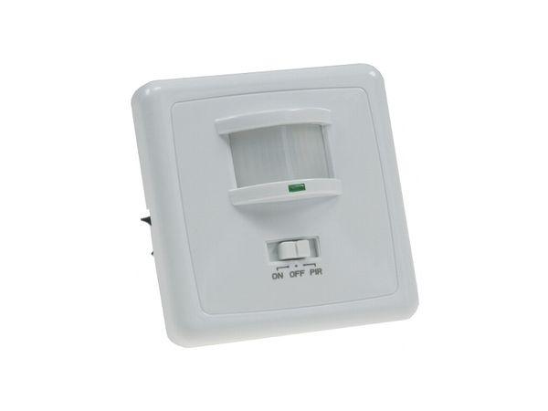 Unterputz Infrarot-Bewegungsmelder (PIR) 160°, für LED-Leuchten, IP20, weiß
