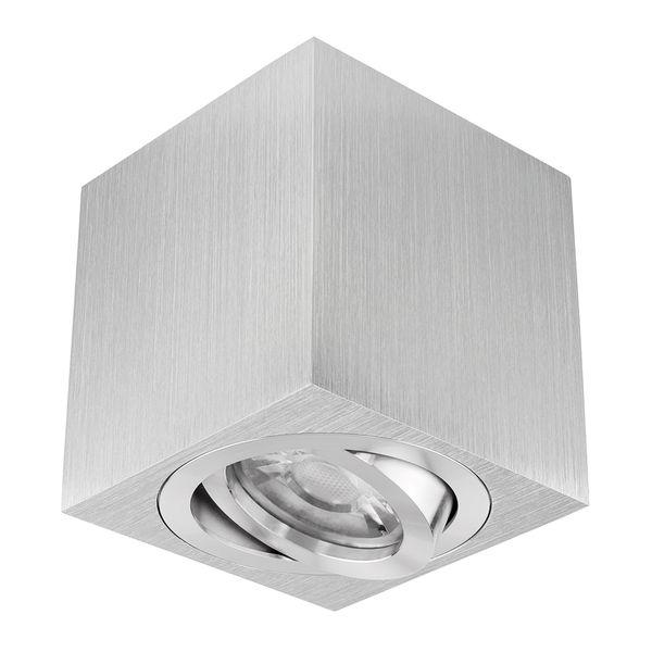 Dimmbarer Decken Aufbauspot DUCE aus Alu, schwenkbar inkl. LED Leuchtmittel 7W SMD warm weiss 230V – Bild 2