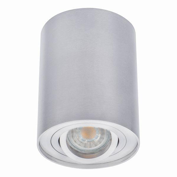 Deckenstrahler Deckenleuchte Aufbau-Spot Alu, BORD DLP-50-AL, schwenkbar, inkl. LED Leuchtmittel 5W - dimmbar - warm weiss