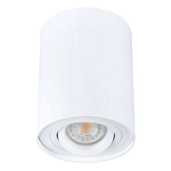 LED-Aufbau-Spot weiß, BORD DLP-50-W, schwenkbar inkl. LED Leuchtmittel 5W - dimmbar - warm weiss 230V – Bild 1