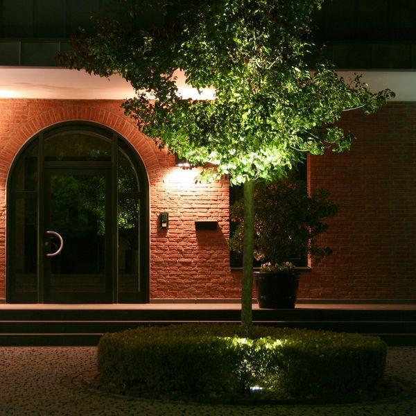 LED-Gartenstrahler mit Erdspieß und Kabel, rund silbergrau, 3W warmweiß, GU10 230V IP68/ IP44 – Bild 7