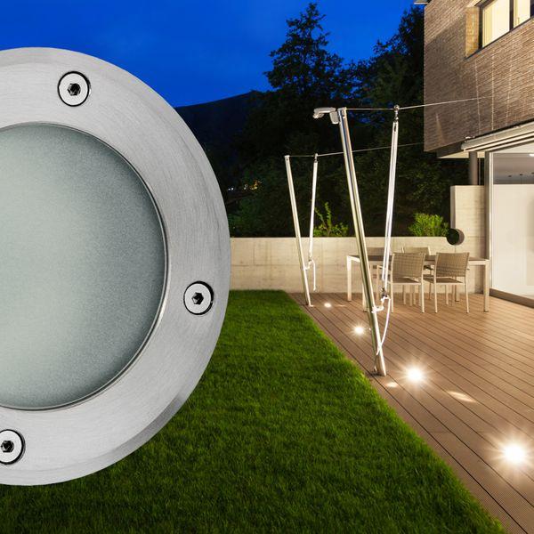 Bodeneinbaustrahler rund VISKOS - Bodenleuchte inkl LED GX53 5,5W neutralweiß 550lm 230V – Bild 2