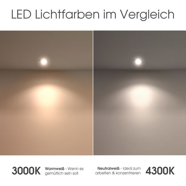 Bodeneinbaustrahler quadratisch VIROK inklusive LED GX53 5,5W neutralweiß 530lm 230V – Bild 7
